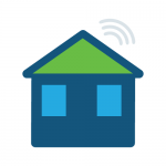 icon showing house with internet connection