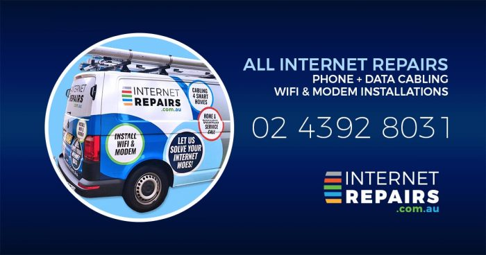 All internet repairs, phone cabling and wifi installation services